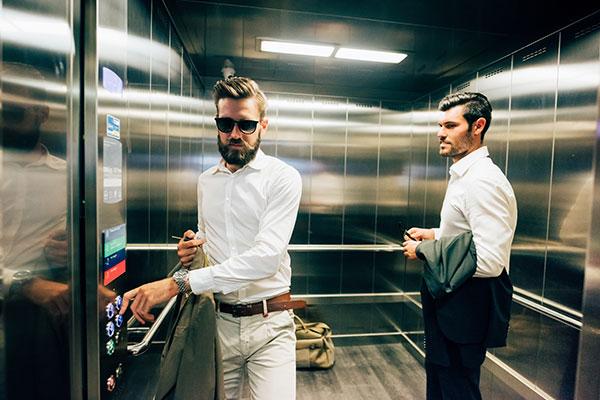 usar ascensor